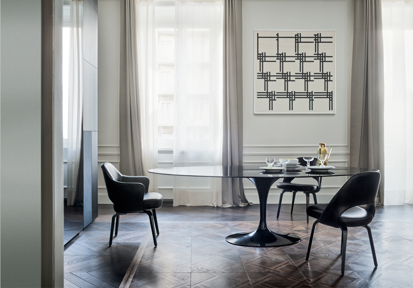 Saarinen Tulip Table and Conference Chairs
